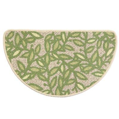 Classic Berber Leaf Sonata Slice Kitchen Mat