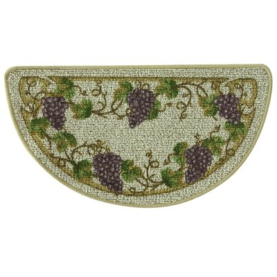 Classic Berber Grapevine Slice Kitchen Mat