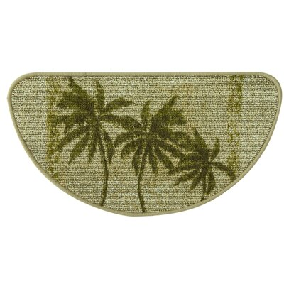 Classic Berber Paradise Palm Slice Kitchen Mat