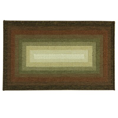 Cotton Elegance Spcie/Brown Concentric Tone Rug Rug Size: 24 x 310
