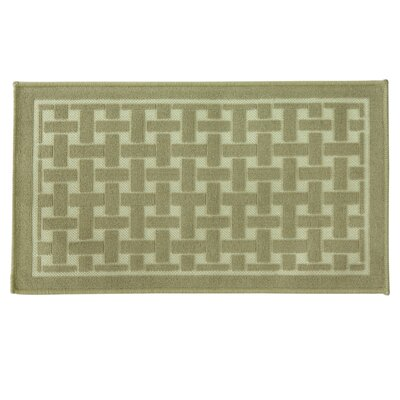 Basket Weave Oatmeal Doormat Mat Size: Rectangle 18 x 29