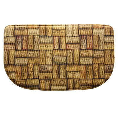 Standsoft Wine Corks Mini Check Slice Kitchen Mat