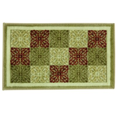 Studio Design Yarrington Green/Brown Area Rug Rug Size: 18 x 29