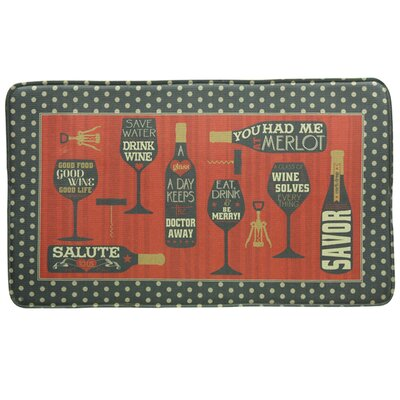 Standsoft Wine Words Vintage Doormat