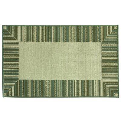 Cotton Elegance Border Stripe Blue Rug Rug Size: 24 x 310