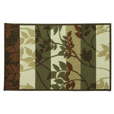 Cotton Elegance Tonal Vine Spice Rug Rug Size: 18 x 29