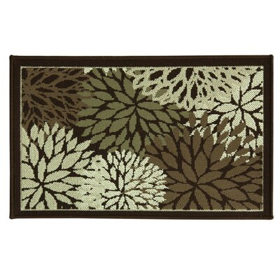 Cotton Elegance Fleur Doormat Rug Size: 18 x 29