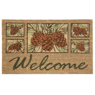 Koko Natural Pinecone Welcome Doormat