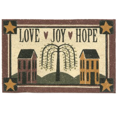 Koko Bleach Love Joy Hope Doormat