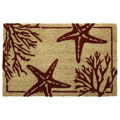 Bacova Guild Koko Bleach Coral Starfish Doormat