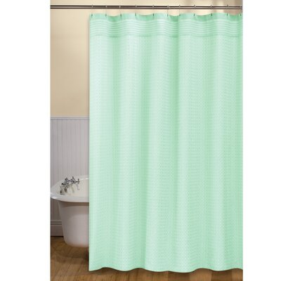 Mini Check Shower Curtain Color: Cool  Aqua