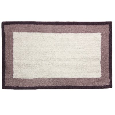 Double Frame Bath Rug Color: Purple