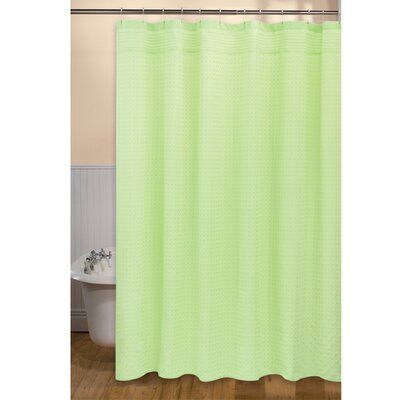 Mini Check Shower Curtain Color: Frozen Lime