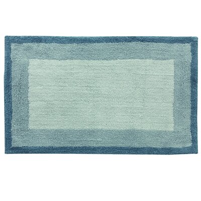 Double Frame Bath Rug Color: Blue