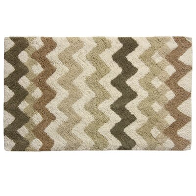 Belifore Bath Rug Color: Brown