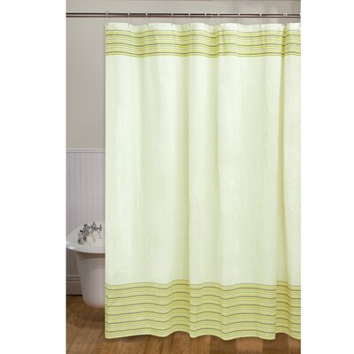 Seersucker Stripe Shower Curtain Color: Coconut