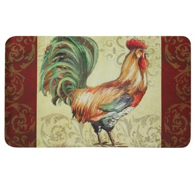 Floor Gallery Rooster Scroll Door Mat