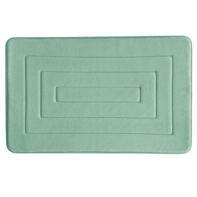 Microban Antimicrobial Memory Foam Concentric Bath Rug