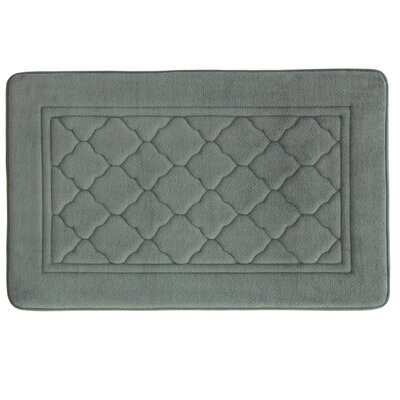 Microban Florence Memory Foam Bath Rug Size: 17 W x 24 L, Color: Gray