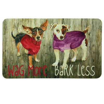 Floor Gallery Wag More Bark Less Door Mat