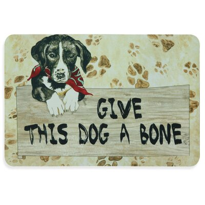 Floor Gallery Give Dog Bone Door Mat