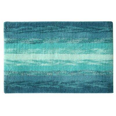 Portico Bath Rug Color: Blue