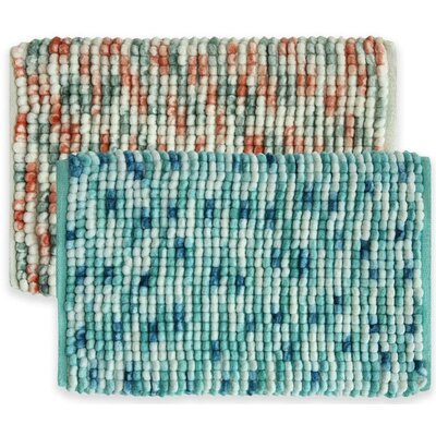 Harper Bath Rug Color: Blue