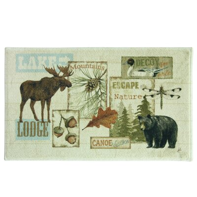 Vintage Outdoors Bath Rug