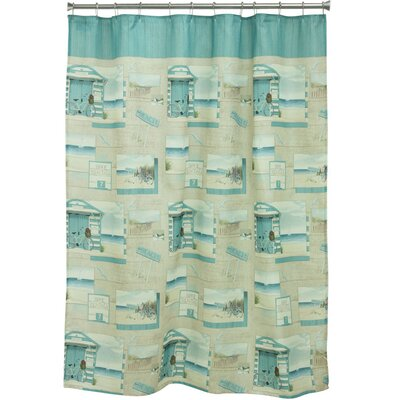 Beach Cruiser Polyester Shower Curtain