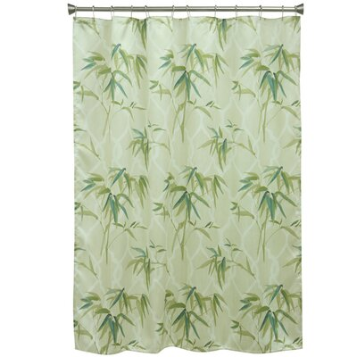 Zen Bamboo Polyester Shower Curtain