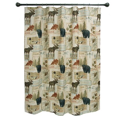 Vintage Outdoors Polyester Shower Curtain