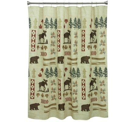 North Ridge Polyester Shower Curtain