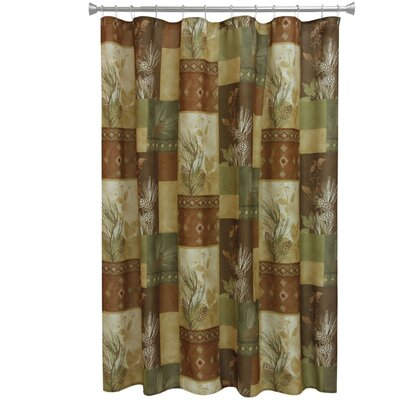 Pine Cone Polyester Shower Curtain