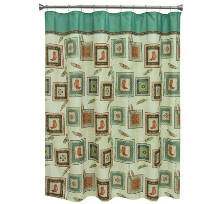 Southwest Boots Polyester Shower Curtain