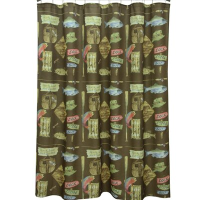 Born to Fish Polyester Shower Curtain