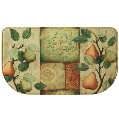 Les Poires Memory Foam Slice Kitchen Mat