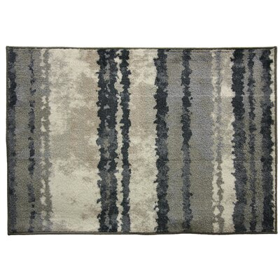 Uncarved Chromajet Strata Gray Area Rug