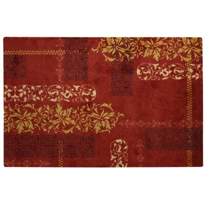 Uncarved Chromajet Parma Red Area Rug Rug Size: 27 x 310