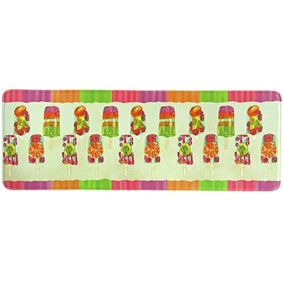 Popsicles Memory Foam Kitchen Mat Rug Size: 18 x 47
