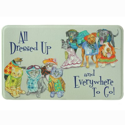 All Dressed Up Memory Foam Kitchen Mat