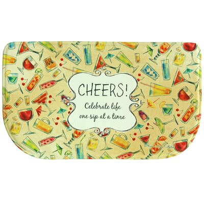Bonnie Marcus Cocktail Toss Memory Foam Kitchen Mat