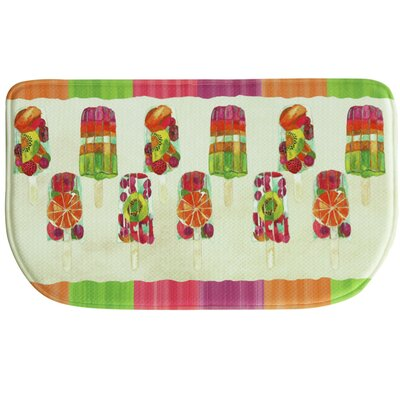 Popsicles Memory Foam Kitchen Mat Rug Size: 16 x 26