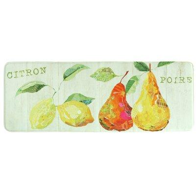 Citron et Poire Memory Foam Kitchen Mat