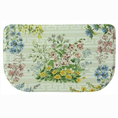 Summer Bouquet Memory Foam Slice Kitchen Mat Rug Size: 16 x 26