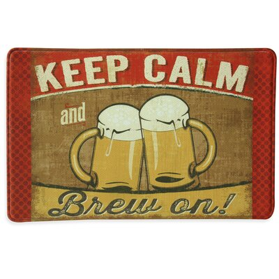 KEEP CALM and Brew On Memory Foam Kitchen Mat