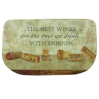 Wine with Friends Memory Foam Kitchen Mat