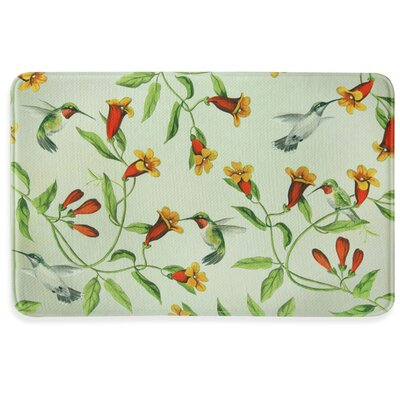 Hummingbirds and Trumpets Memory Foam Kitchen Mat Mat Size: 111 x 3