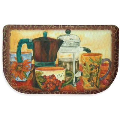 Baristas Best Memory Foam Slice Kitchen Mat Rug Size: 16 x 26