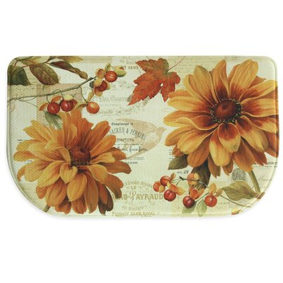 Fall in Love Memory Foam Kitchen Mat Mat Size: 16 x 26