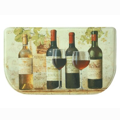 Wine Tasting Memory Foam Slice Kitchen Mat